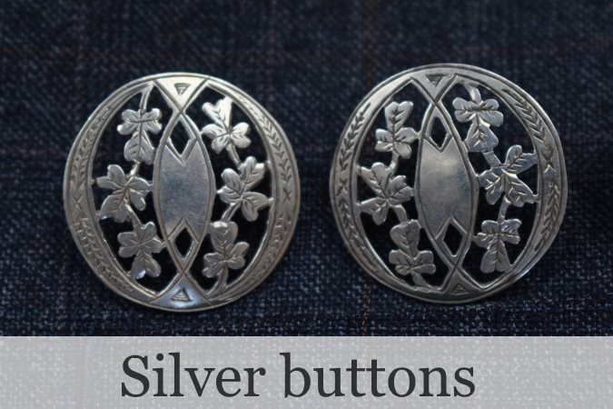 Silver antique buttons