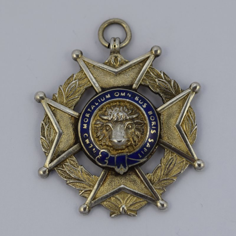 Silver and Enamel Masonic medal
